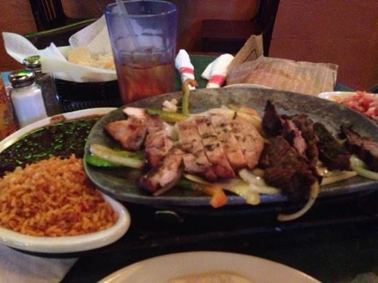 Chevys Fresh Mex: Steak and Chicken Fajitas