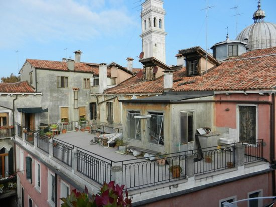 view from our terrace picture of hotel bisanzio venice tripadvisor. Black Bedroom Furniture Sets. Home Design Ideas