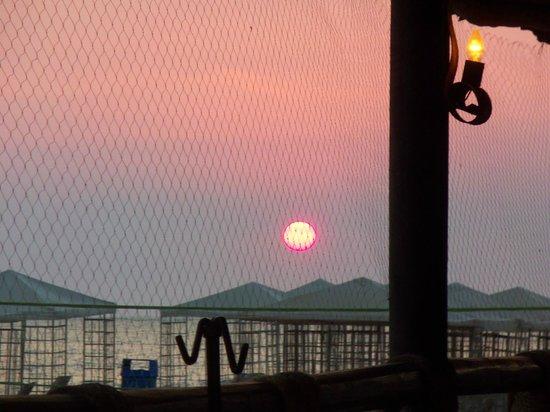 Velas Vallarta: Sunset dining at the beach side restaurant