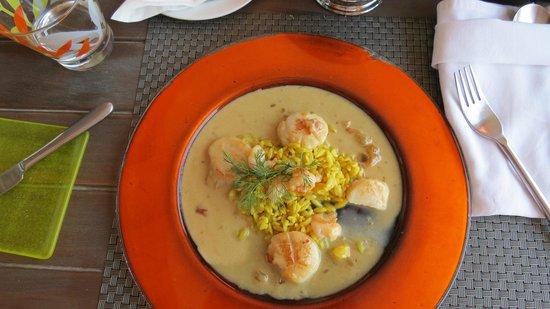 Bordiehn's Restaurant B's at Marina: scallop starter