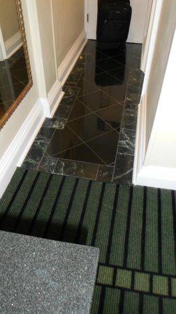 Bourbon Orleans Hotel: I love that the entry way is tiled, makes it feel really clean.