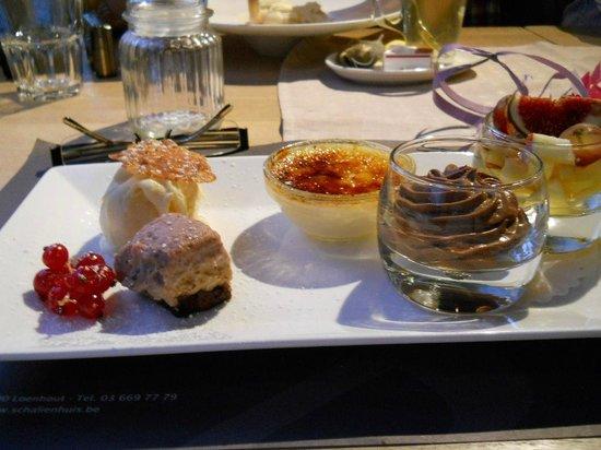 't Schalienhuis: Dessertenpallet