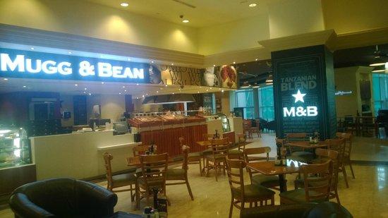 The exterior of Mugg & bean