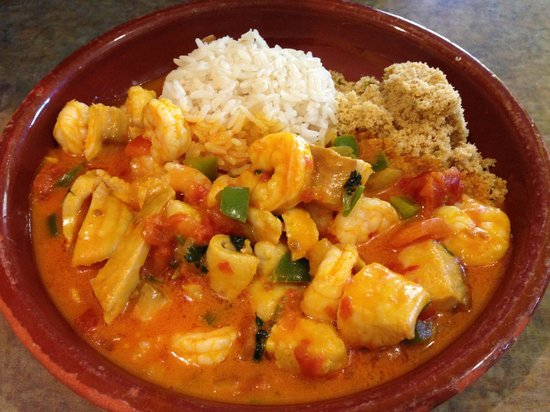 Cafe Brasil: Seafood over rice with special sauce - must try