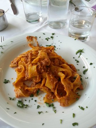 Antica Trattoria La Torre: Pappardelles sauce lapin