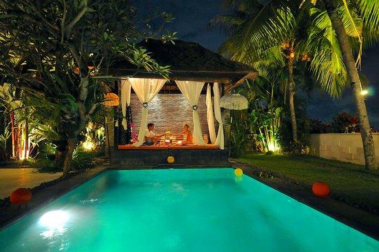 The Zala Villa Bali: diner at zala villa bali