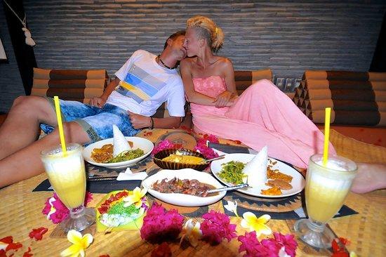 The Zala Villa Bali: dinner at zala villa bali