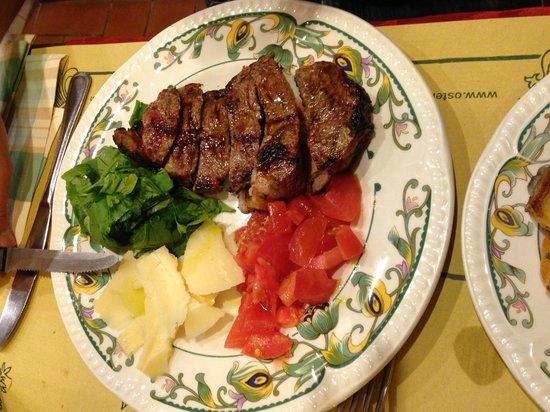 Osteria Il Mostrino : tagliata di manzo con contorni