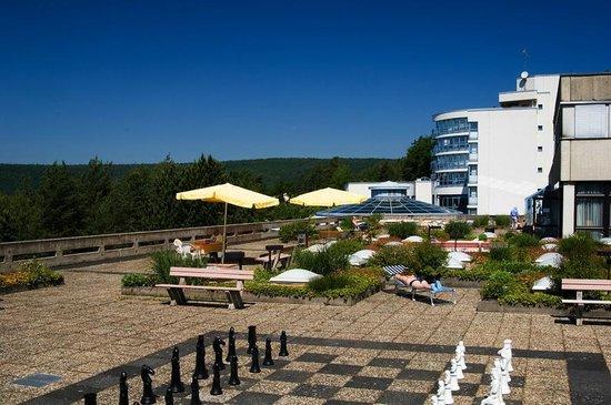 Parkhotel im Rehabilitations- und Praventionszentrum Klinikum: Dachterrasse
