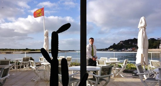 Hotel de la Marine : Sur la terrasse pour le petit déjeuner
