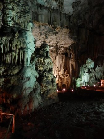 Inside view of Melidoni Cave