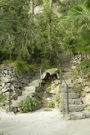 Negombo Giardini Termali: vista delle innumerevoli scale del parco