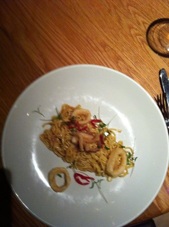 The Salthouse Eaterie: Linguine with Calamari