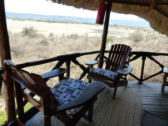 Manyara Wildlife Safari Camp: terrasse