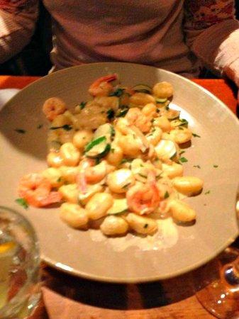 La Pappardella: Gnocchi zucchine e gamberi