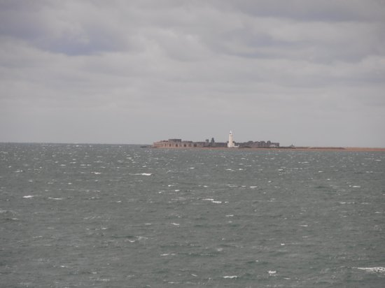 Hurst Castle: view from the IOW ferry