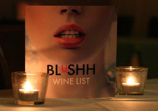 Blushh Bar: Winelist