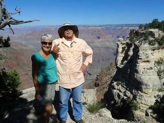 Marvelous Marv's Grand Canyon Tour : Marvellous Marv with Dee, my wife, in Grand Canyon