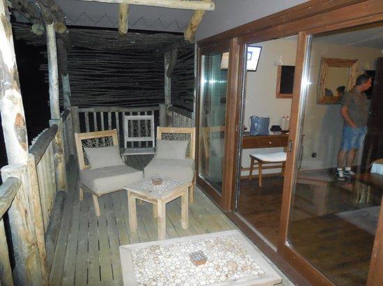Les Lodges du PAL : terrasse