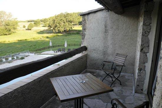 AUBERGE SAINT PIERRE : balcon chambre
