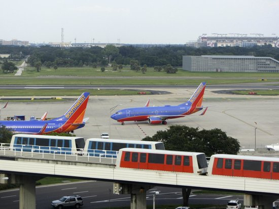 Tampa Airport Marriott: view from our window