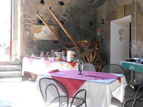 La Rocca della Rosa : zona pranzo/colazioni