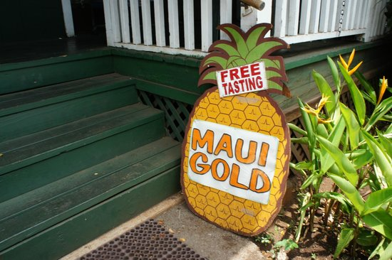 Lahaina Front Street: Maui Gold just off Front Street