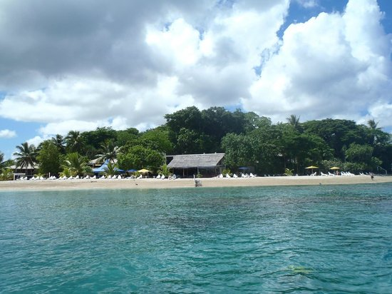 Hideaway Island Resort: View of Hideaway from the Boat