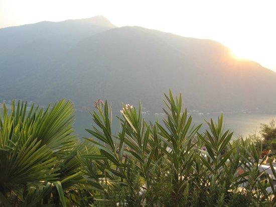 Casa Rosa: Coucher de soleil de la Terrasse