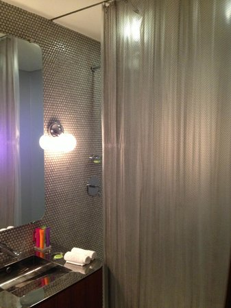 Bathroom and Gorg Metal Shower Curtain - Picture of Dream Downtown ...