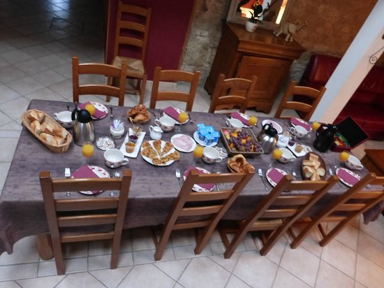 Les Lavandieres: Table pour le petit-déjeuner de grande qualité