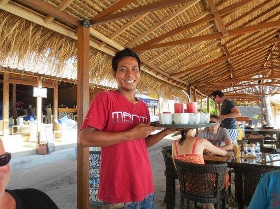Manta Dive Gili Air Resort: Hookman & his million dollar smile