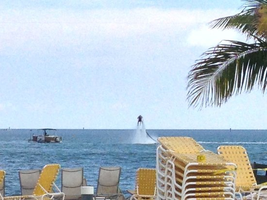Postcard Inn Beach Resort & Marina at Holiday Isle: got to watch the jetpack flights from the pool