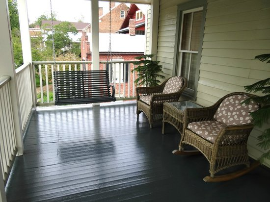 Historic Eureka Inn : This is the small back porch that is located right outside of the Cooks Room.