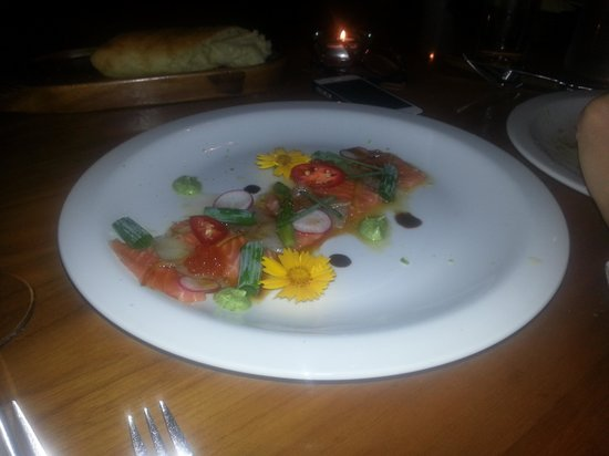 Alegra - Boutique Hotel: One of the dishes of the gourmet dinner