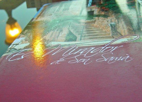 Es Mirador at Finca Son Sama: die Karte