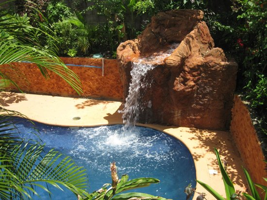 Roatan Backpackers' Hostel: pool with waterfall