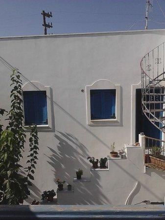 Windmill Naxos : vista dal balconcino