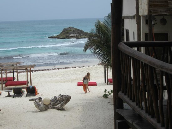 Amansala Eco Chic Resort: view from our room (sort of)