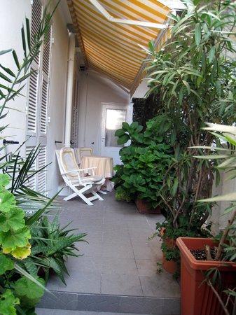 Hotel Helvetia: Small but nice terrace from Junior Suite Garden View room 5