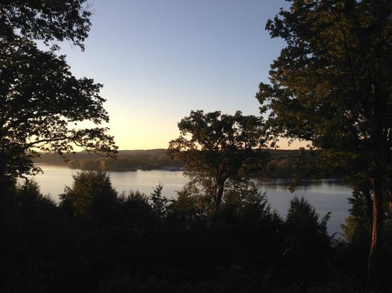 Lake view from the Mohican Lodge and Conference Center Patio