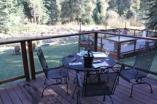 O-Bar-O Cabins: View from our deck. The Florida River is several dozen yards from back deck.