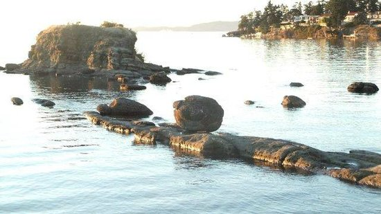 The Landing West Coast Grill: Rock formations in bay