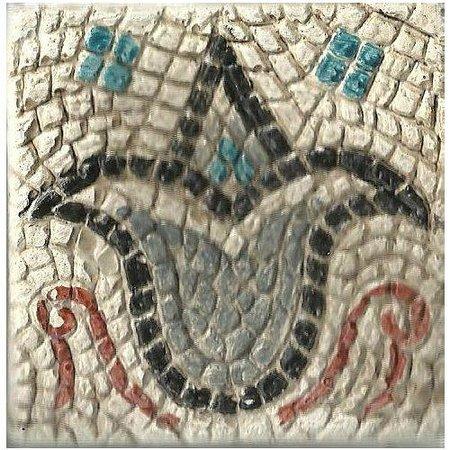 Hotel Comendador: Muestra de mosaico del yacimiento arqueológico