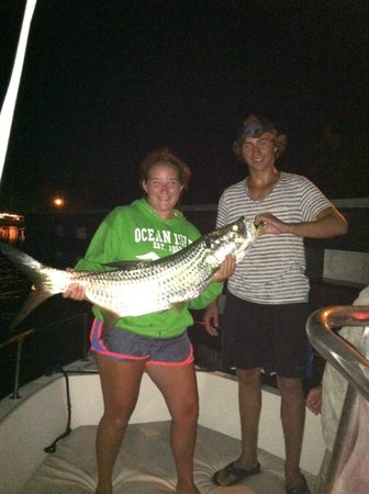 Ankle Deep Fishing Adventure - Tours: Their 1st Tarpon ever.