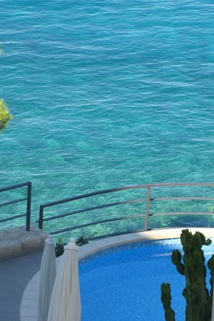 Villa Paulina: la mer depuis la terrasse
