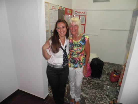Mediterranee Hotel: me and lefki from reception (lovely lefki)