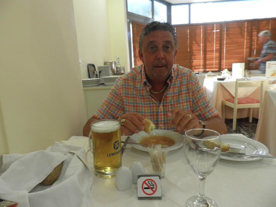 Mediterranee Hotel: my husband eating his soup