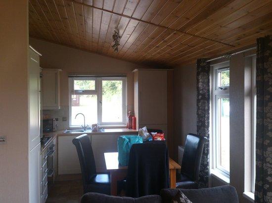 Athelington Hall Log Cabin Holidays: kitchen Elite 1