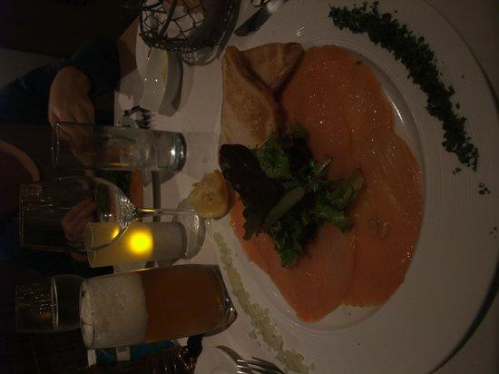 De Barge Hotel: entrée saumon